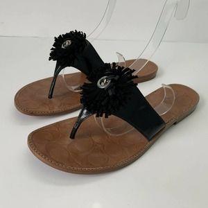 COACH Darcie Patent Leather Sandals Size 10